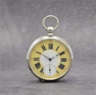 Pocket watch with lavish pierced & engraved movement
