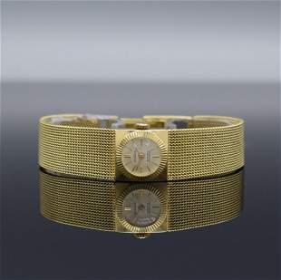 BERGANA 14k yellow gold ladies wristwatch
