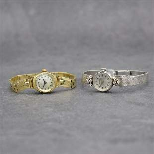 BIFORA & NORVINA 2 14k gold ladies wristwatches