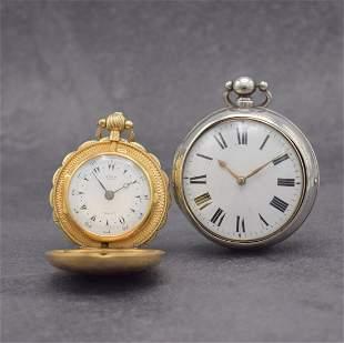 2 English verge watches