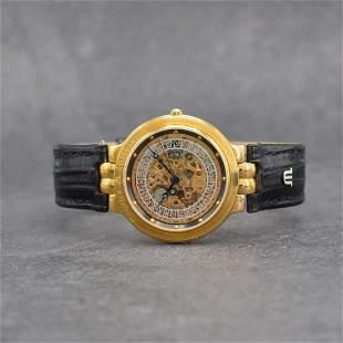 MAURICE LACROIX skeletonized gents wristwatch