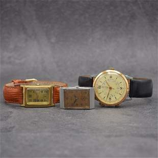 3 manual wound gents wristwatches