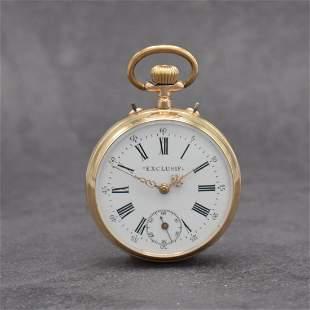 EXCLUSIF rare 14k pink gold pocket watch