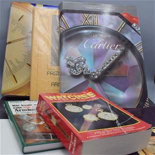 4 watch books, 1) Le Temps De Cartier, from J. Barracca