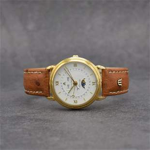 MAURICE LACROIX gold plated gents wristwatch
