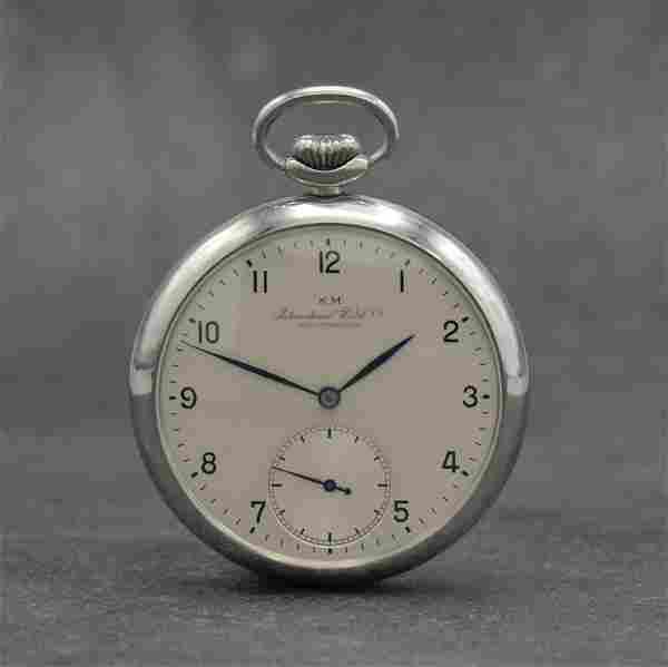 IWC KM nearly mint on both sides glazed pocket watch
