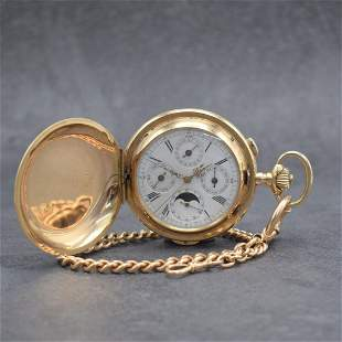 INVICTA 14k pink gold hunting cased pocket watch