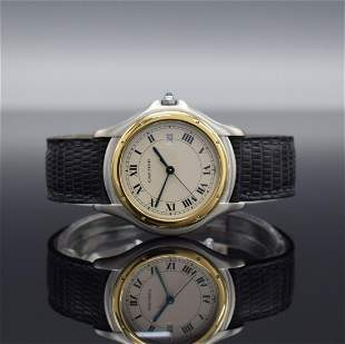 CARTIER Cougar wristwatch in steel/gold combined