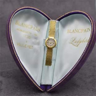 BLANCPAIN rare 18k yellow gold ladies wristwatch