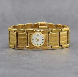 DUGENA unusual 14k yellow gold ladies wristwatch