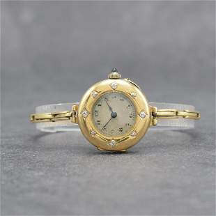 Early 14k pink gold ladies wristwatch