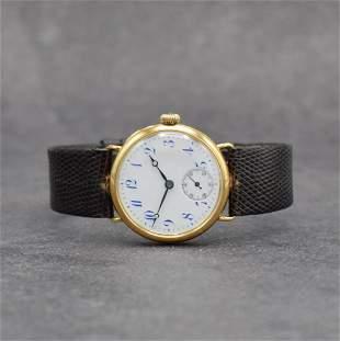 IWC rare & early 14k yellow gold wristwatch