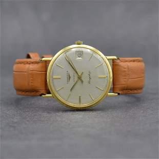 LONGINES Flagship 18k yellow gold gents wristwatch