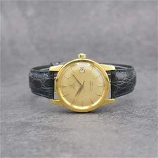 OMEGA 18k yellow gold gents wristwatch series Seamaster