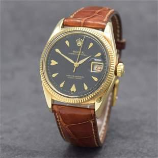 ROLEX rare 14k yellow gold gents wristwatch