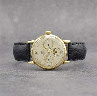 UNIVERSAL GENEVE 14k yellow gold gents wristwatch