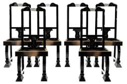 12 chairs, France, in the style of Art Deco