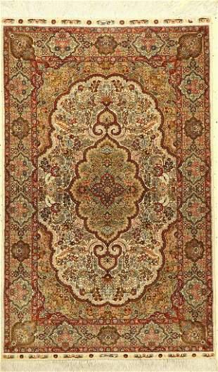 Hereke silk fine, China, approx. 50 years, pure natural