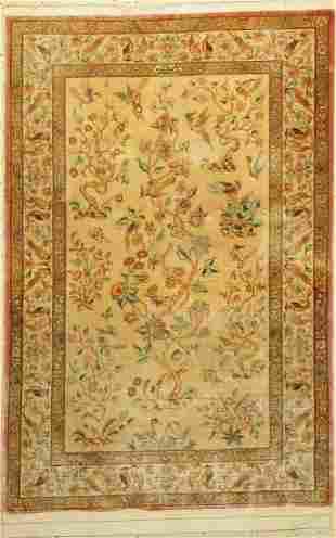 Qum silk fine signed, (Sadegh Zadeh) Persia, approx. 60