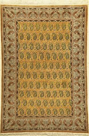 Qum silk fine, Persia, around 1940, pure natural