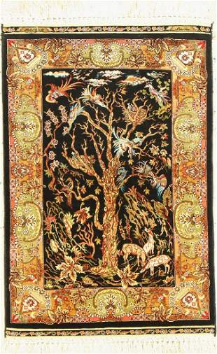 Hereke silk # 'Khankhani #' fine, signed, Turkey