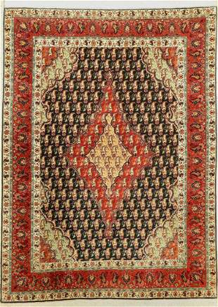 Tabriz Alabaft fine (50 Raj), signed, Persia, approx.