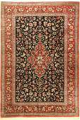Qum silk fine signed, (Mosawi), Persia, approx. 50