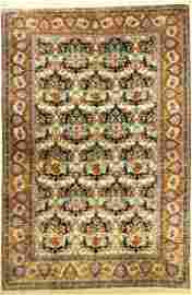 Qum silk fine, Persia, around 1950, pure natural