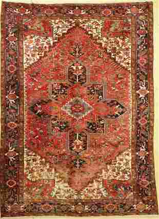 Heriz old, Persia, approx. 60 years, wool on cotton