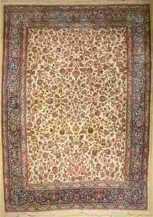 Kerman old, Persia, approx. 60 years, wool on cotton