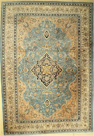 Old Qum, Persia, around 1960, wool with silk, approx.