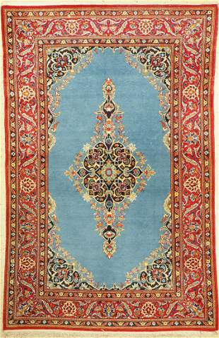 Kashan old, Persia, approx. 60 years, wool on cotton