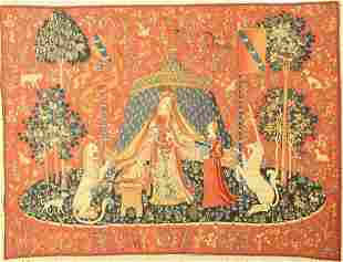 Tapestry, Belgium, approx. 50 years, cotton, approx.