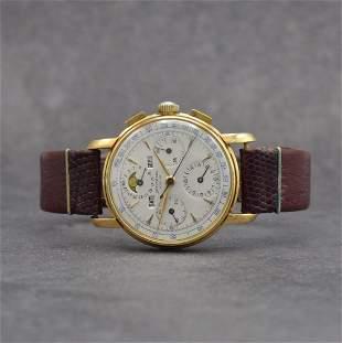 UNIVERSAL GENEVE 18k yellow gold Tri-Compax chronograph