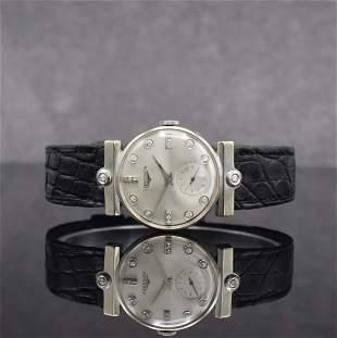 LONGINES 14k white gold diamond set wristwatch