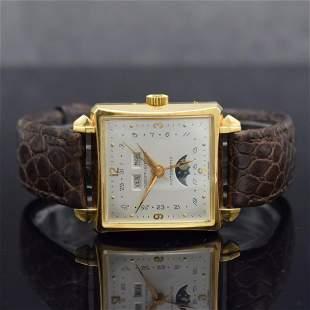JAQUET + GIRARD / FAVRE LEUBA rare 18k gold wristwatch