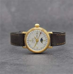 BREITLING 18k pink gold ladies calendar wristwatch
