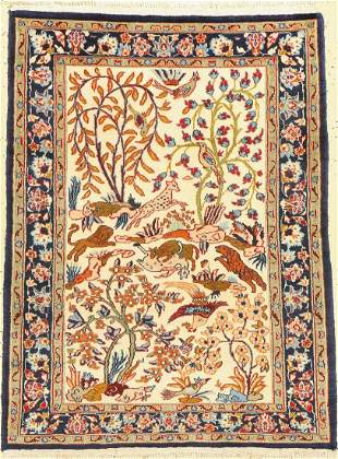 Isfahan fine old, Persia, approx. 60 years, wool on