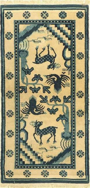 Pao Tow, antique, China, around 1920, wool on cotton