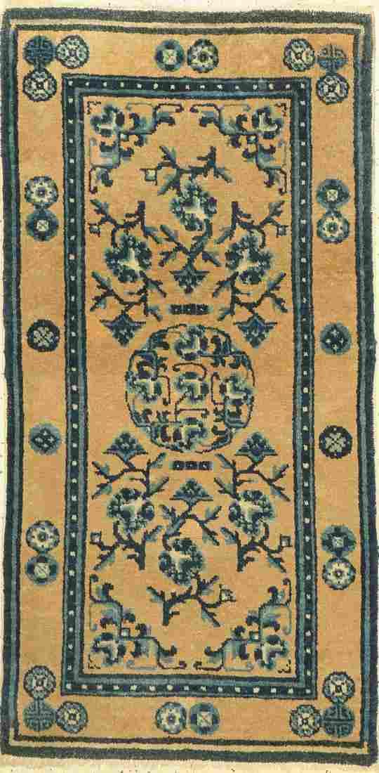 Pao Tow, antique China, around 1920, wool on cotton