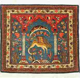 Kashan Dabir Sanayeh fine, Persia, around 1930, wool