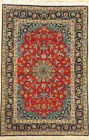Isfahan fine, Persia, approx. 60 years, wool on silk