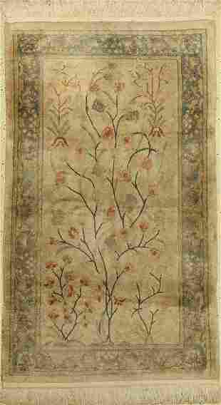 China silk, approx. 50 years, silk on cotton, approx.