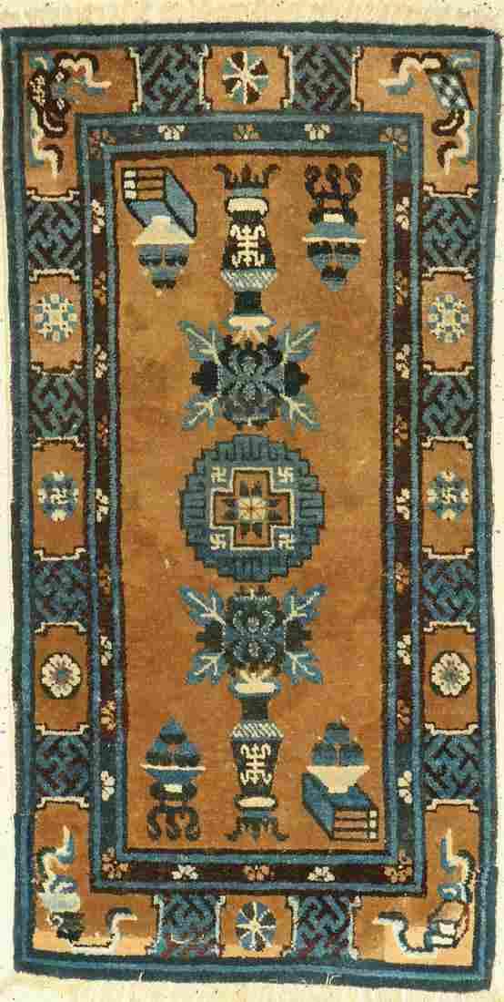 Pao Tow antique, China, around 1920, wool on cotton