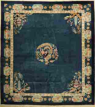 Peking antique, China, around 1920, wool on cotton