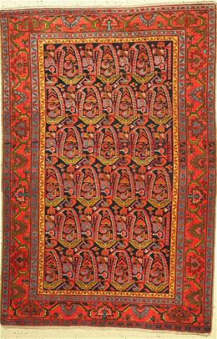 Malayer old, Persia, around 1930, wool on cotton