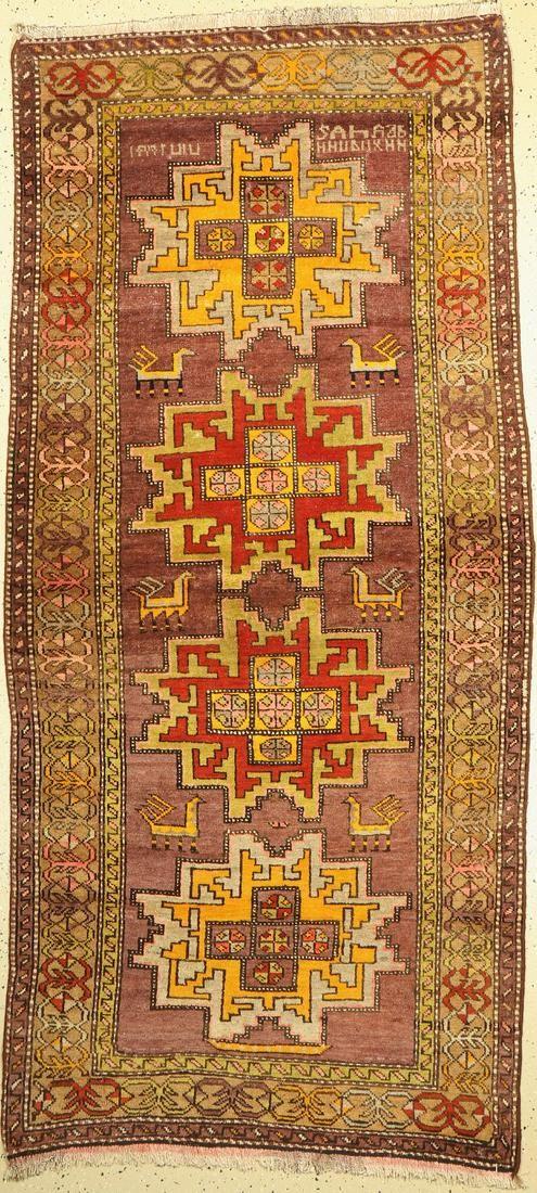Armenian Kazak, Caucasus, around 1960, wool oncotton
