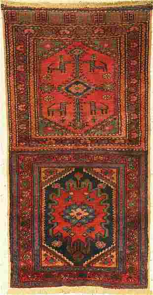 Open Afshar bag, Persia, around 1950, wool on cotton