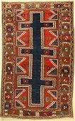 Karachop Kazak antique, Caucasus, around 1900,wool on