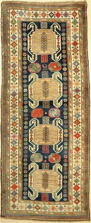 Lenkoran Talisch antique, Caucasus, around 1900, wool